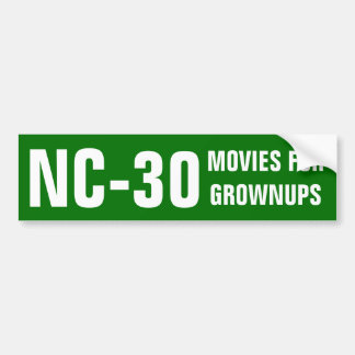 NC-30 MOVIES FOR GROWNUPS BUMPER STICKER