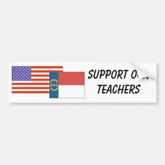 NC--Apoye a nuestros profesores Pegatina Para Auto
