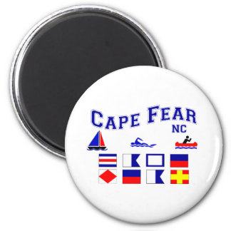 NC Cape Fear Signal Flags Magnet
