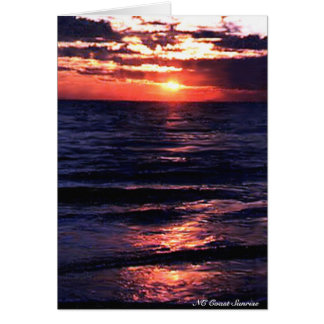 NC Coast Sunrise Greeting Card