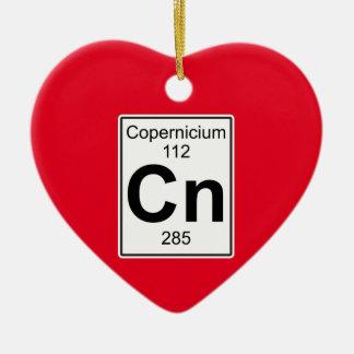 NC - Copernicium Adorno Navideño De Cerámica En Forma De Corazón