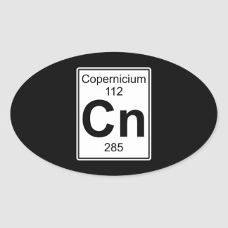 NC - Copernicium Pegatina Ovalada
