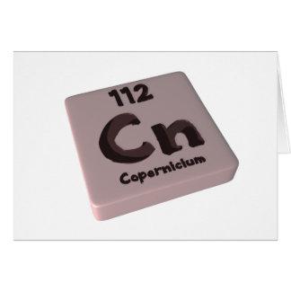 NC Copernicium Tarjeta De Felicitación