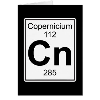 NC - Copernicium Tarjeta De Felicitación