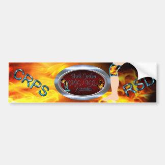 NC CRPS RSD Association Logo Oval Silver Ring Bumper Stickers