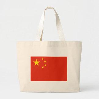NC de la bandera de China Bolsa Tela Grande