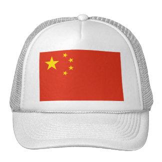 NC de la bandera de China Gorros Bordados