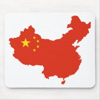 NC del Bandera-mapa de China Alfombrillas De Ratón