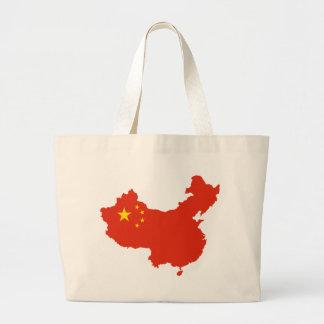 NC del Bandera-mapa de China Bolsa Tela Grande