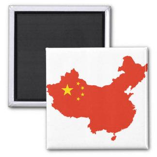 NC del Bandera-mapa de China Imán Cuadrado