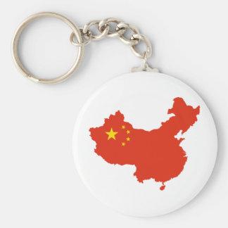 NC del Bandera-mapa de China Llavero Redondo Tipo Pin