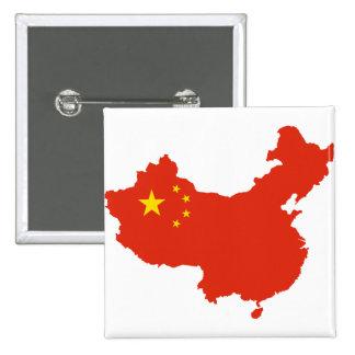 NC del Bandera-mapa de China Pin Cuadrado