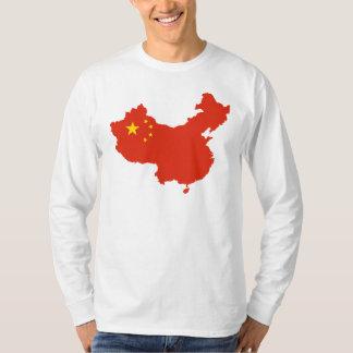 NC del Bandera-mapa de China Poleras