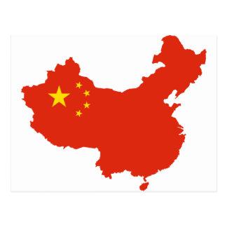 NC del Bandera-mapa de China Postales