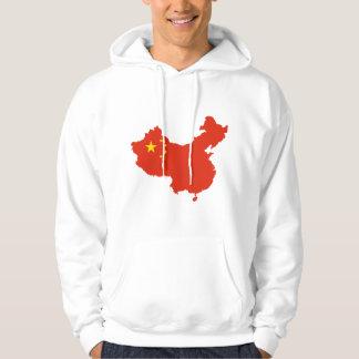 NC del Bandera-mapa de China Sudaderas Con Capucha