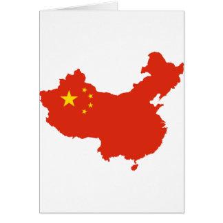 NC del Bandera-mapa de China Tarjeton