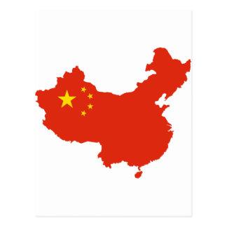 NC del Bandera-mapa de China Tarjeta Postal