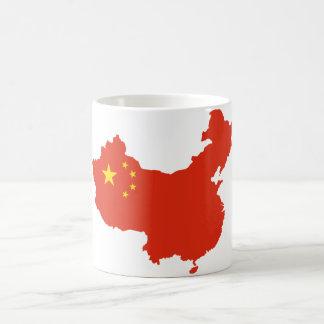 NC del Bandera-mapa de China Taza