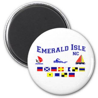 NC Emerald Isle SIG FL 2 Inch Round Magnet