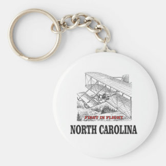 NC first in flight Keychain
