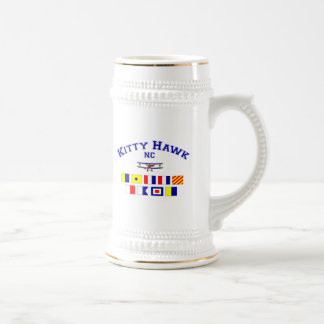 NC Kitty Hawk Signal Flags Beer Stein