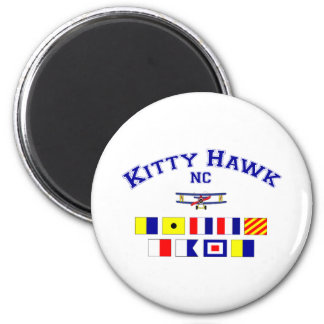 NC Kitty Hawk Signal Flags 2 Inch Round Magnet