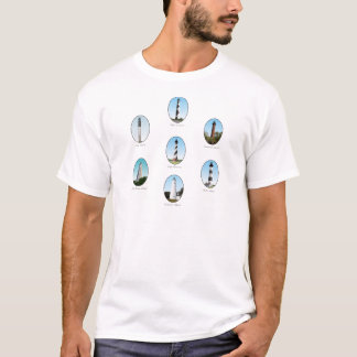NC Lighthouses Combo Two T-Shirt
