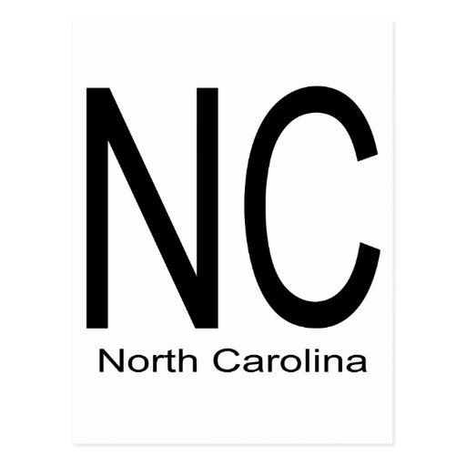 NC North Carolina black Postcard