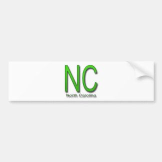 NC North Carolina green Bumper Sticker