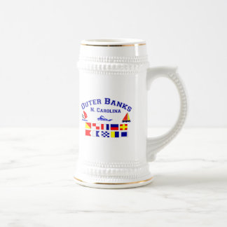 NC Outer Banks Signal Flags Beer Stein