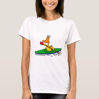 NC pato Kayaking divertido Playera