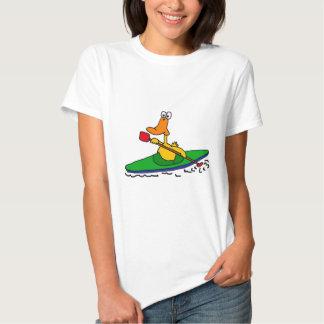 NC pato Kayaking divertido Playeras