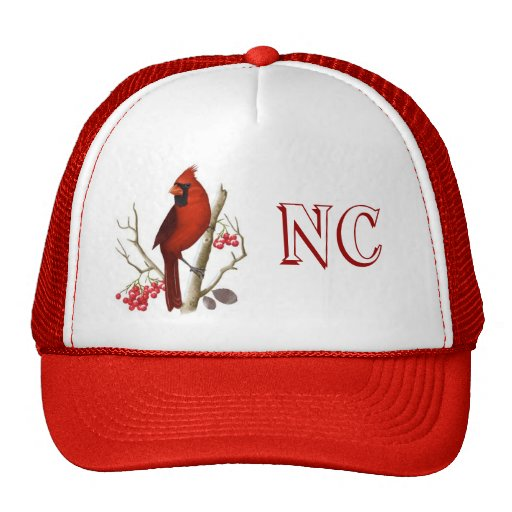 NC State Red Bird Hat. Trucker Hat
