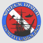 NC Wreck Diver Classic Stickers