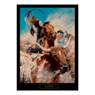 "NC Wyeth Historical Painting ""Cutting Out"" Poster"