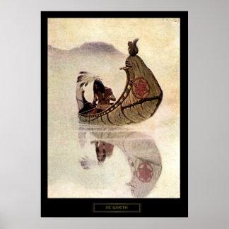 NC Wyeth Historical Painting Hiawatha Poster