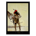 NC Wyeth Historical Painting Native Indian Hunting Poster