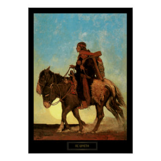 NC Wyeth Historical Painting Navajo Family Poster