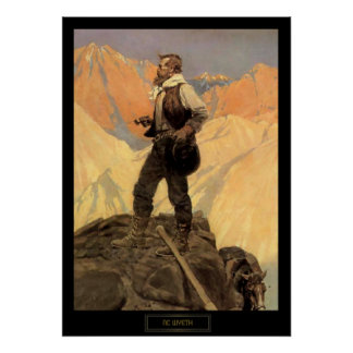 "NC Wyeth Historical Painting ""The Prospector"" Poster"