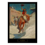 """NC Wyeth Historical Painting """"The Rodeo"""" Poster"""
