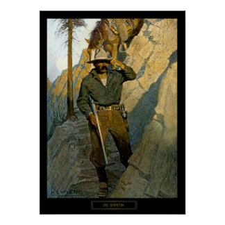 "NC Wyeth Historical Painting ""The Sheriff"" Poster"