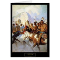 NC Wyeth Historical Painting The War Party Card