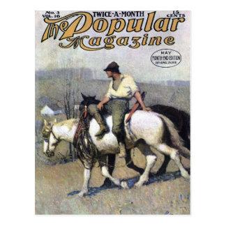 NC Wyeth - portada de revista poste popular de Tarjetas Postales