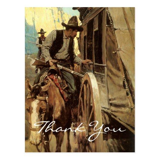 NC Wyeth Vintage Cowboy Postcard