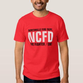 NCFD, NORTHVILLE FIRE DEPT., FIRE FIGHTER / EMT TSHIRT