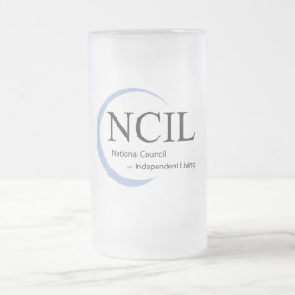 NCIL FROSTED GLASS BEER MUG