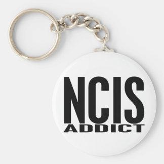 NCIS Addict Basic Round Button Keychain