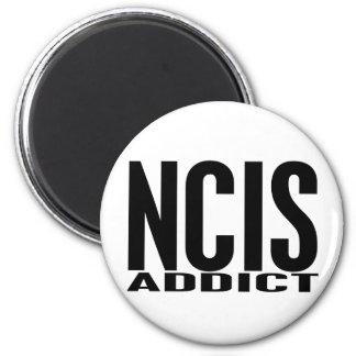 NCIS Addict 2 Inch Round Magnet