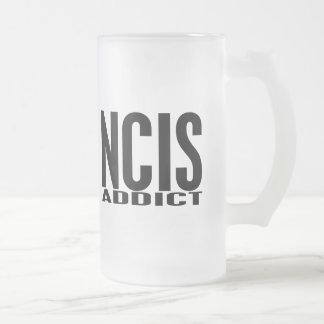 NCIS Addict 16 Oz Frosted Glass Beer Mug