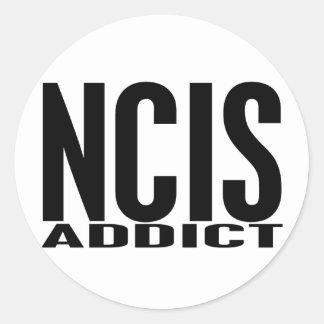 NCIS Addict Classic Round Sticker